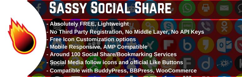 Sassy social share, facebook plugin