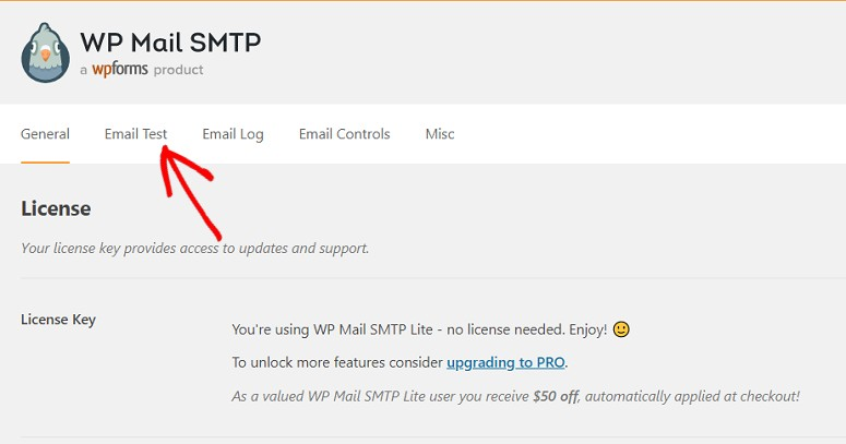 WP Mail SMTP settings