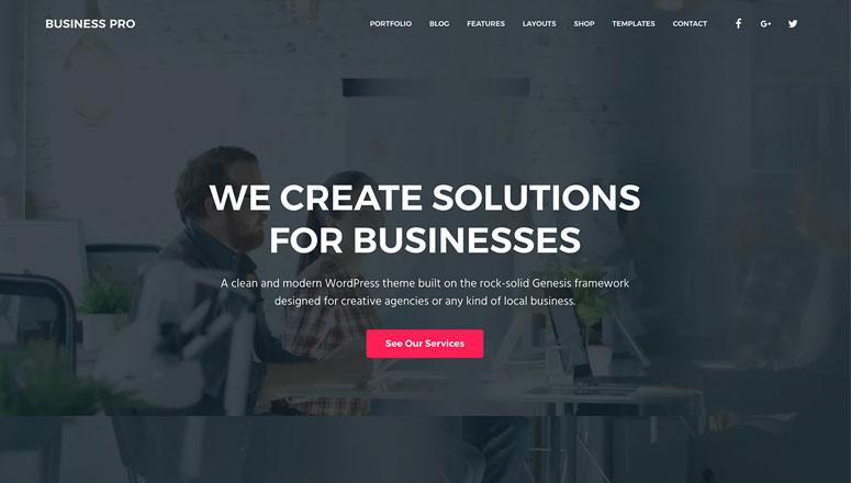 Business Pro, seo optimized wordpress theme