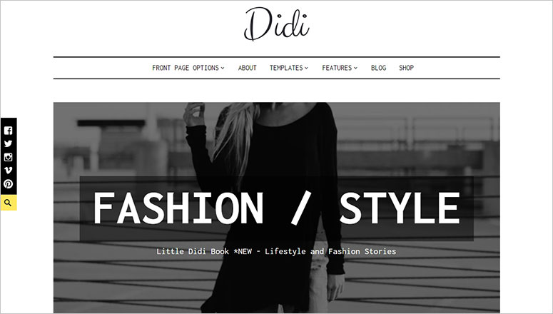 Didi Best minimalist WordPress themes