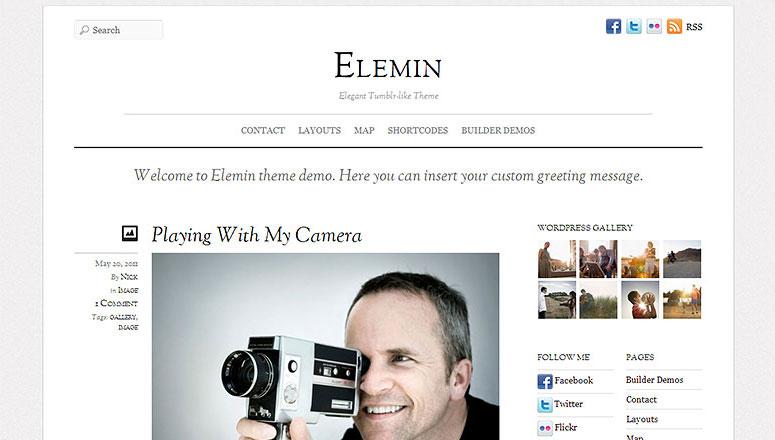 Elemin, wordpress themes for graphic designers
