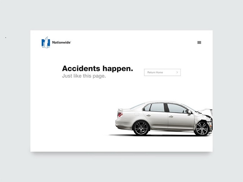 404 erro by Ryan Duffy, inspiring 404 error page