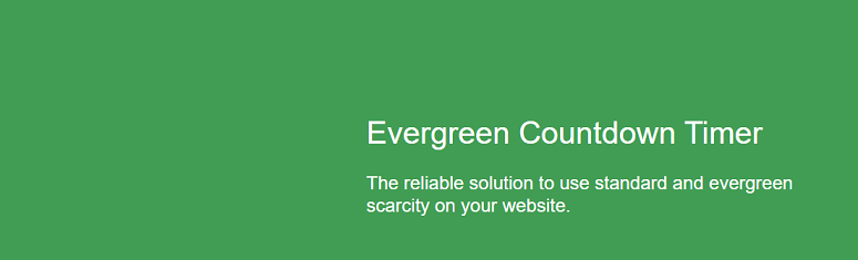 Evergreen Countdown Timer, countdown timer plugin