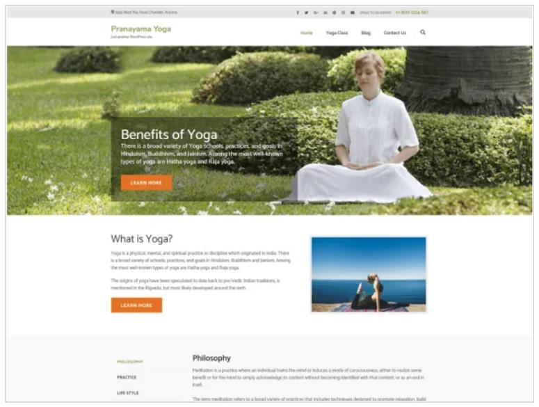 Pranayama_Yoga_WordPress_theme