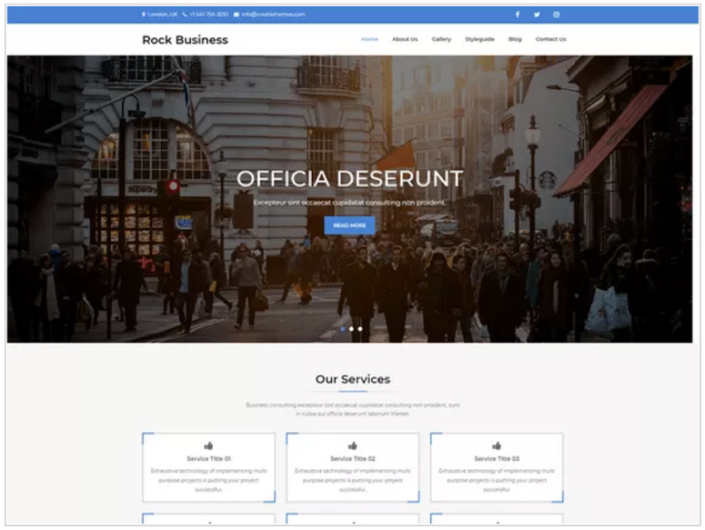 Rock_Business_WordPress_theme