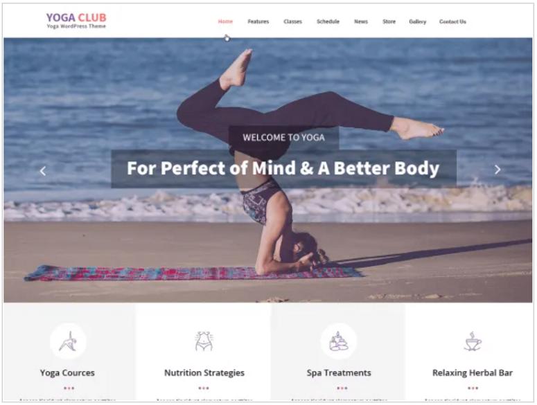 Yogaclub Lite, yoga themes