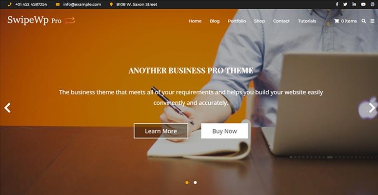 Swipe Pro, graphic designers theme