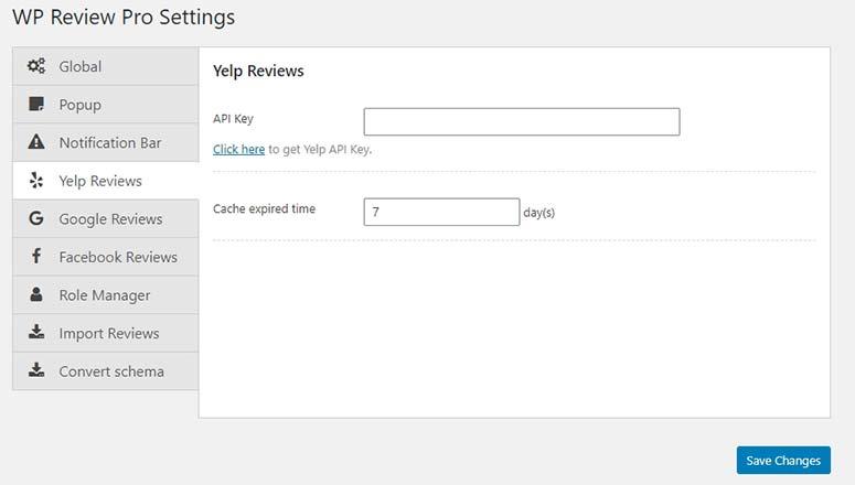 Yelp Reviews Integration