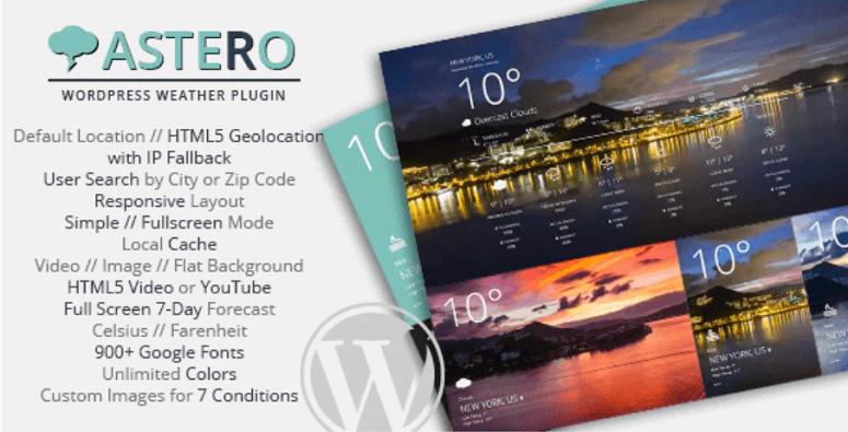 Astero, WordPress weather plugin