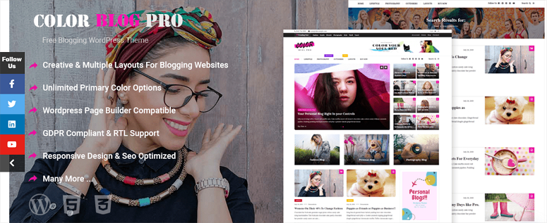 Color Blog Pro theme