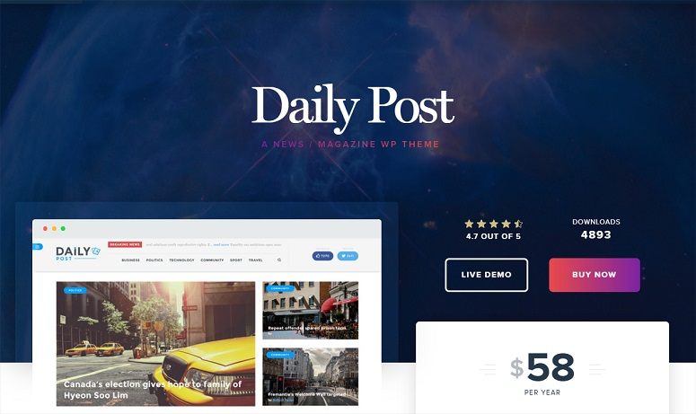 Dailypost, news theme
