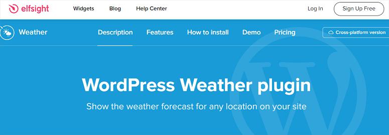 Elfsight WordPress Weather Plugin