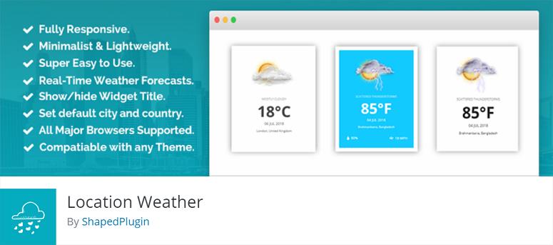 Location Weather, weather plugins
