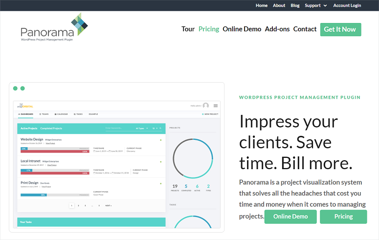 Panorama, Project management plugins
