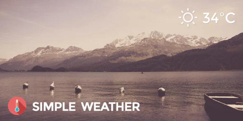 Simple Weather, weather plugins