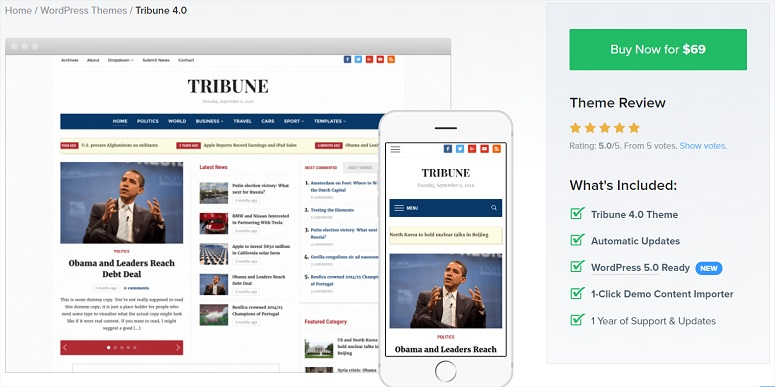 Tribune news theme