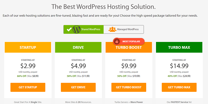 A2 Hosting Shared Hosting