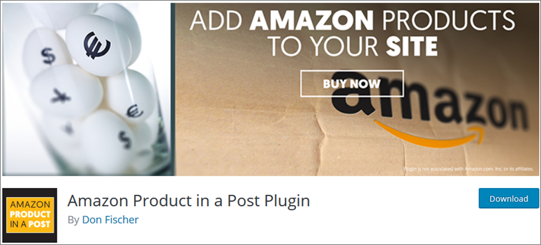 Amazon product in a post