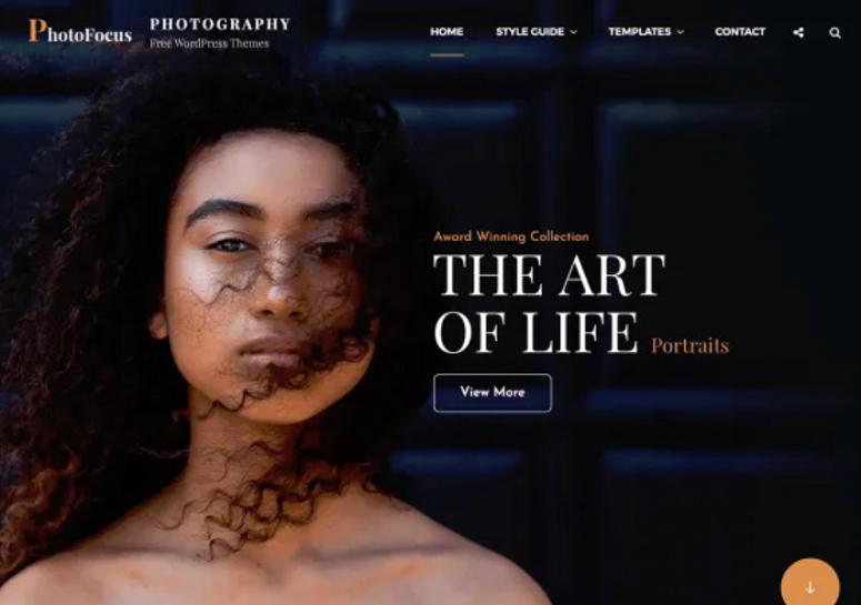 PhotoFocus, freelancers theme