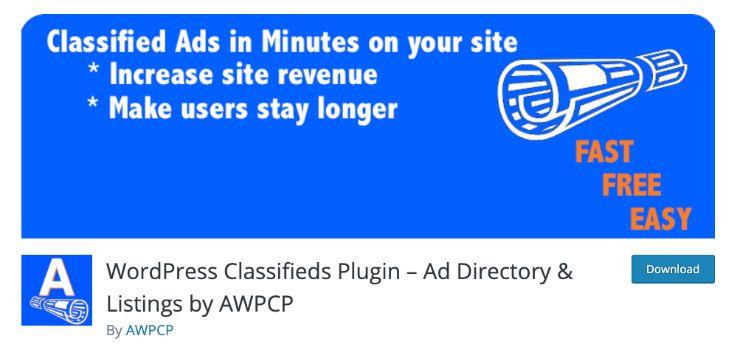 best classified plugin for wordpress user