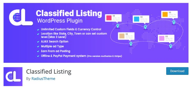 best classified plugin for wordpress by classified listing