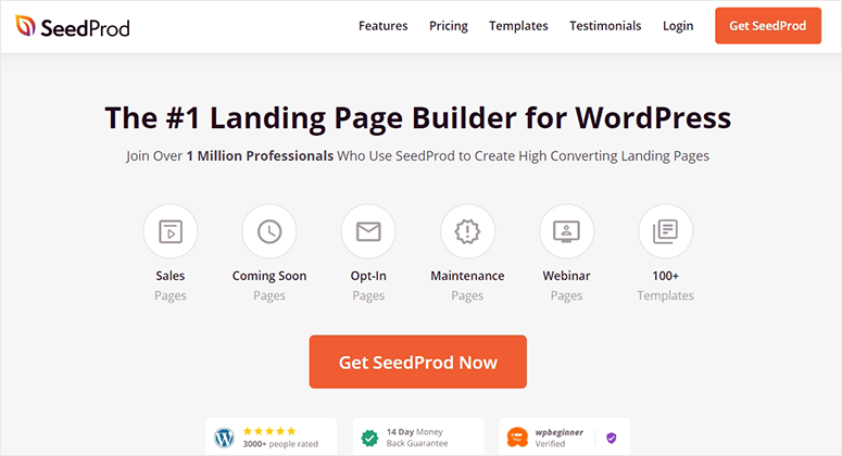 SeedProd Landing Page Builder
