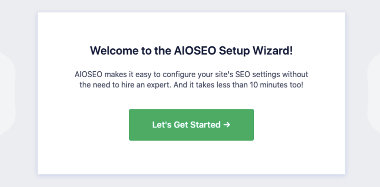 aioseo launch wizard