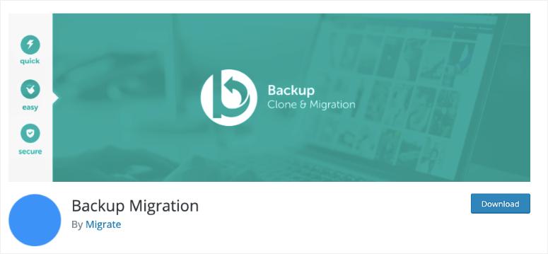 backup migration