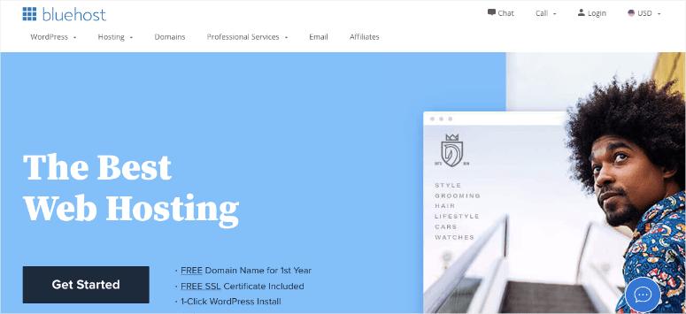 blusthost webhost homepage-min