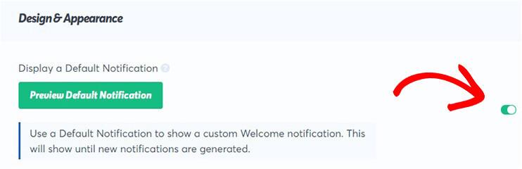 display defalt notification