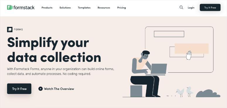 formstack online form builder homepage
