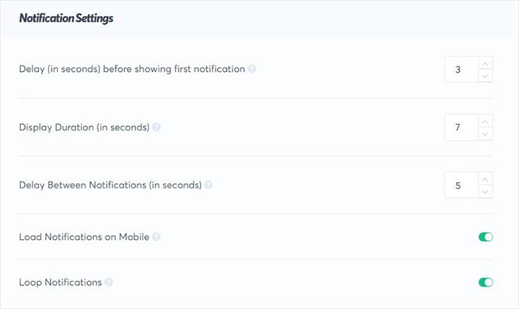 notification display settings_