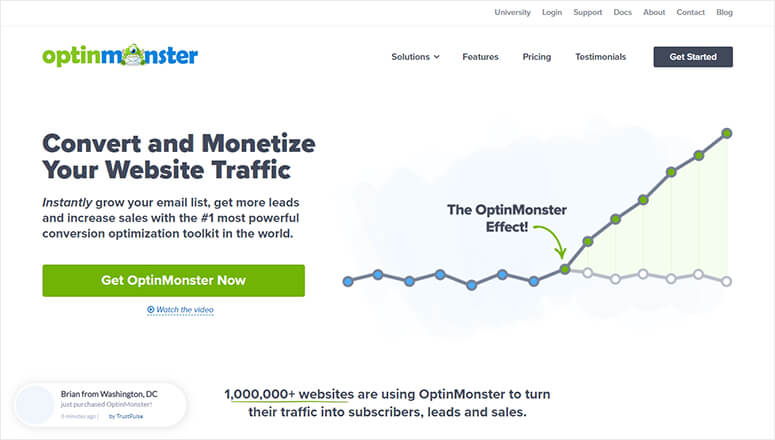OptinMonster Lead Optimization Software