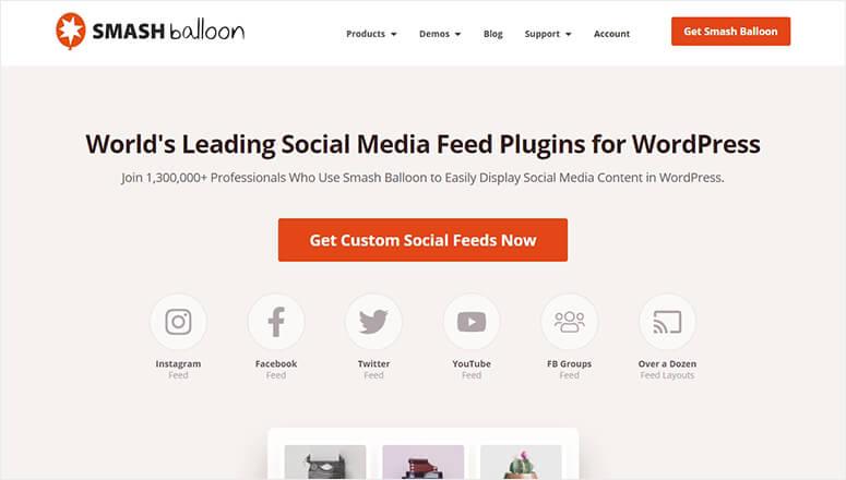 Smash Balloon Social Feed Plugin