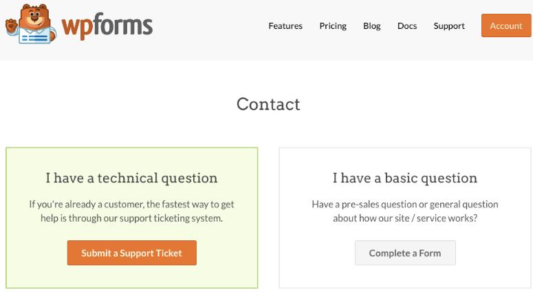 WPForms support