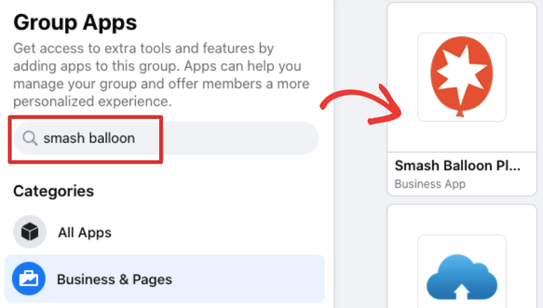 group apps smash balloon