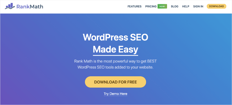 rankmath seo plugin homepage