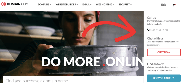 Domain com support