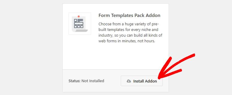 Form templates addon