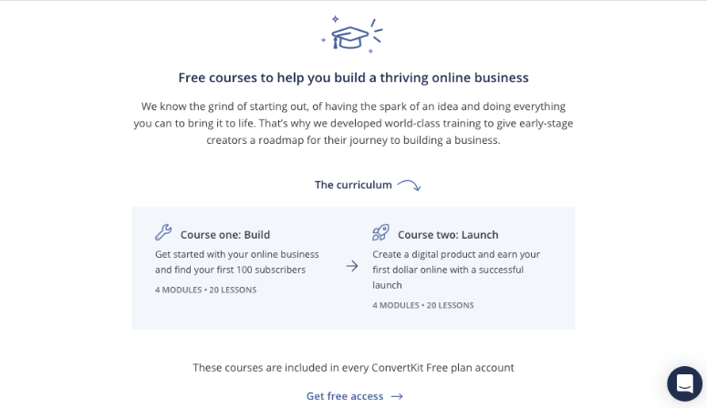 free courses on convertkit