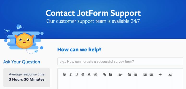 jotform support