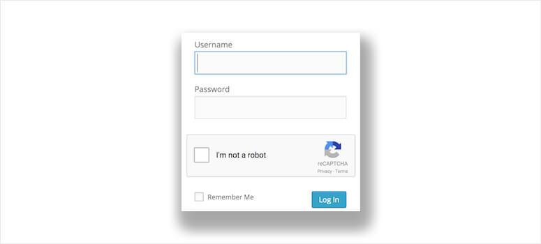 Login No Captcha reCAPTCHA