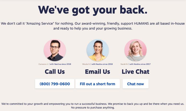 Nextiva customer support