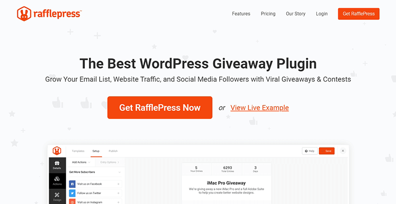 RafflePress website