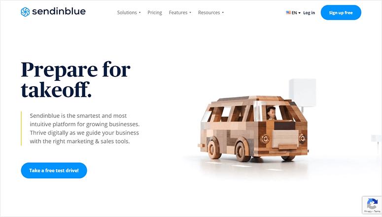 SendinBlue Website