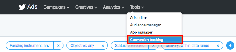 Twitter Ads tracking