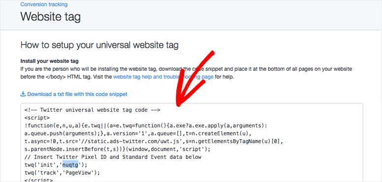 Website tag