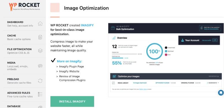 WP Rocket imagify