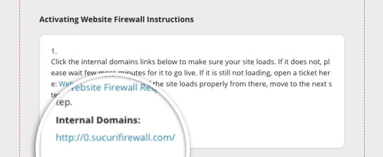 check internal domain link