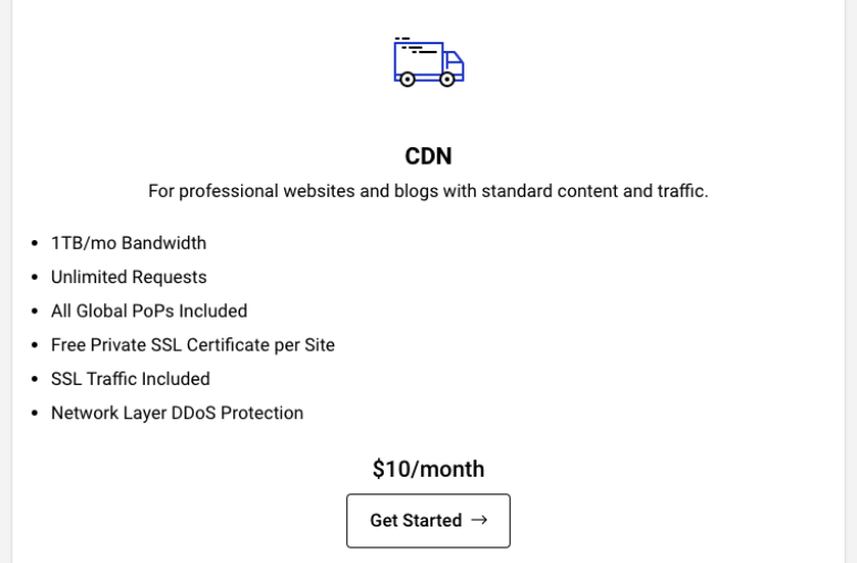 pricing cdn StackPath